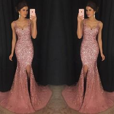 Classy Prom Dresses, Crystal Beaded Prom Dress Mermaid ,Long V Neck Formal Dress,Pink Evening Gowns,Luxurious Mermaid Evening Dresses Prom Dresses Long Pageant Dresses For Teens, Homecoming Dresses, Party Dresses, Maxi Dresses, Nude Prom Dresses, Quince Dresses, Prom Gowns, Quinceanera Dresses, Club Dresses