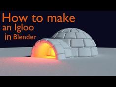 How to model an igloo in Blender
