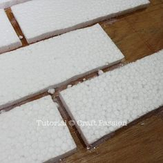 perfect tutorial for faux brick wall, could totally use this for a faux mantle in my bedroom!