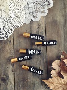 Essential oil Roller bottle labels - DECALS ONLY - by IdahoUrbanDesigns on Etsy