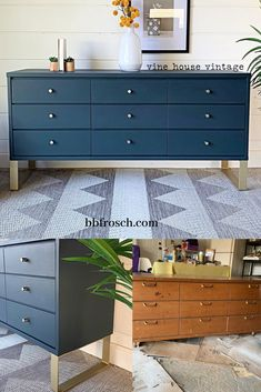 We painted and faux-stained this laminate midcentury piece—all with chalk paint. Cheap Furniture Makeover, Diy Furniture Renovation, Mcm Furniture, Diy Furniture Easy, Refurbished Furniture, Furniture Projects, Chair Makeover, Furniture Refinishing, Repurposed Furniture