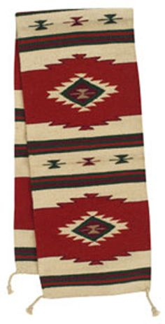 This Southwest Table Runner Is Handwoven From Wool In Vibrant Shades Of  Color With A Neutral