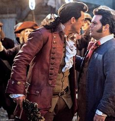 Trouble in paradise between #Gaston and #LeFou! #BeautyAndTheBeast #LukeEvans #MyEdit Pic via Total Film