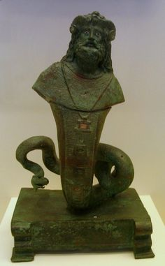 Statuette of Serapis Agathodaemon Bronze Egypt  ,roman period National Archeol.Museum  Athens