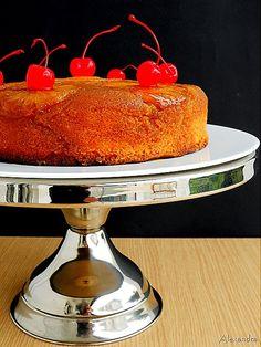 Ανάποδο κέικ ανανά