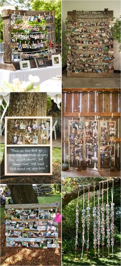 30 Wedding Photo Display Ideas You'll Want To Try Immediately Diy Wedding, Wedding Events, Rustic Wedding, Wedding Flowers, Wedding Photos, Dream Wedding, Weddings, Wedding Ideas, Trendy Wedding