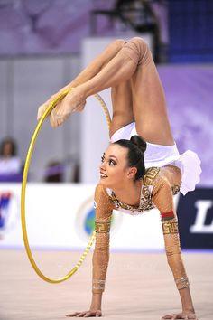 Arina Charopa (born October 1995 in Minsk, Belarus) is a Belarusian rhythmic… Rhythmic Gymnastics Training, Gymnastics Poses, Acrobatic Gymnastics, Gymnastics Photography, Sport Gymnastics, Artistic Gymnastics, Olympic Gymnastics, Gymnastics Leotards, Flexibility Dance