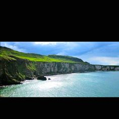 Hands down the most beautiful place I have ever been. Antrim Coast, Northern Ireland. Home of the Carrick a rede rope bridge.