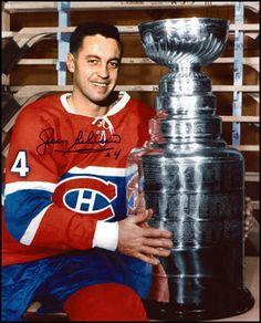 Jean Beliveau 8x10 Stanley Cup Photo