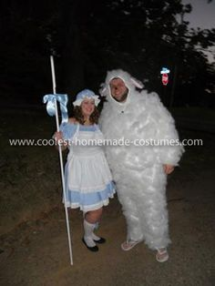 Lil Bo Peep and her Sheep Couple Costume