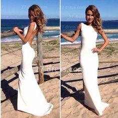 In love.  Elegant Open Back Womens Gowns For Proms Red White Mermaid Long Evening Dress 2014 Vestidos De Fiesta BO3399