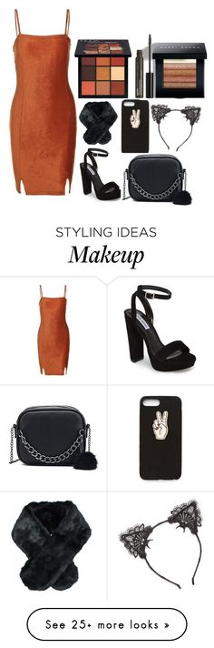 """""""Out"""" by scarlett-anon on Polyvore featuring Steve Madden, Nasty Gal, Bobbi Brown Cosmetics, Jeanne Simmons, True Craft, Huda Beauty and NYX"""