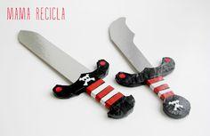 Mamà recicla: Espases de pirata / Espadas de pirata