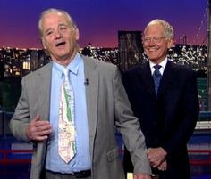"""Your attention please. Bill Murray wore a CTA tie on Wednesday's episode of """"Late Show with David Letterman."""""""