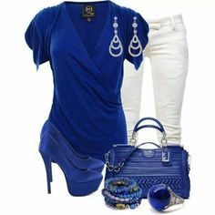 Azul klein + blanco