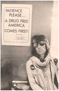 Keith Richards Drug Free America 11x17 Poster