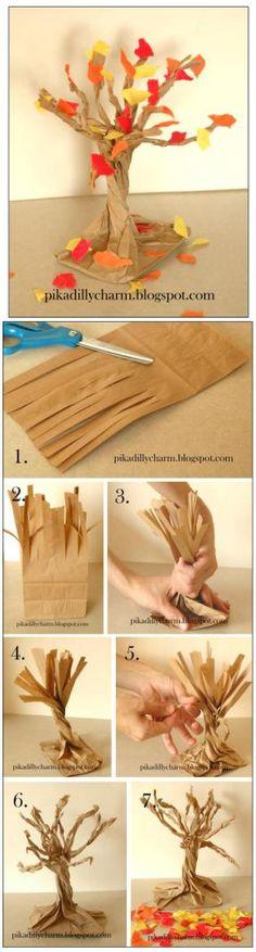 Make a Paper Bag Fall Tree