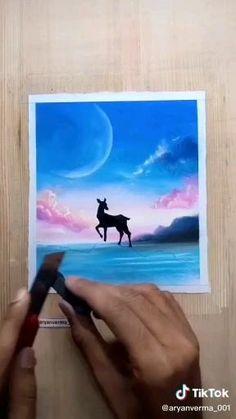 Oil Pastel Drawings Easy, Oil Pastel Paintings, Art Drawings Sketches Simple, Oil Pastels, Soft Pastel Art, Art Painting Gallery, Art Gallery, Easy Canvas Art, Canvas Painting Tutorials