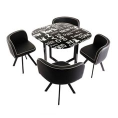 Set Comedor Auxiliar Ciudades 4 Puestos Glass Round Dining Table, Sitges, Leo, Sweet Home, Decorations, Furniture, Home Decor, Dining Table Design, Modern Home Plans