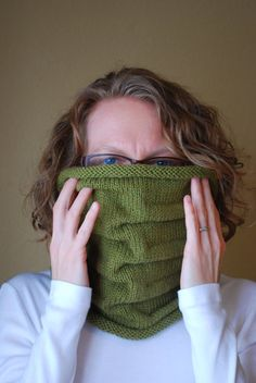 Hand Knit Cowl Folded Merino Wool Camel  The by yomamaorganics