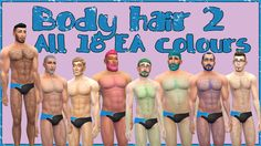 Sims 4 CC's - The Best: Body Hair by My Sims 4 Stuff