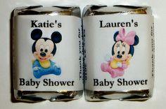 120 Mickey ou Minnie Mouse BABY SHOWER faveurs de Wrappers Candy étiquettes personnalisées ~ livraison gratuite par FAVORSXPRESS sur Etsy https://www.etsy.com/fr/listing/228749267/120-mickey-ou-minnie-mouse-baby-shower