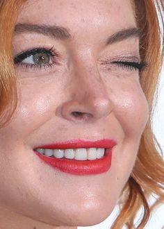 Red lips lohan lindsay