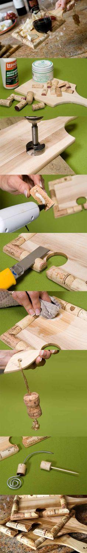 Cork-lined cutting board!