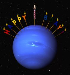 "Neptune's first birthday since its discovery was on July 12, 2011.   Johann Galle found Neptune on September 24, 1846, but a Neptunian year is quite long! ©Mona Evans, ""10 Amazing Facts about the Solar System"" http://www.bellaonline.com/articles/art33026.asp"