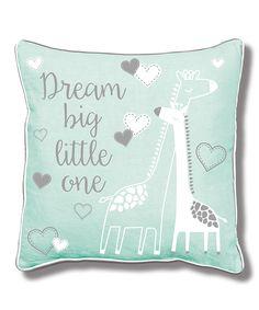 Loving this 'Dream Big Little One' Baby Giraffe Pillow on #zulily! #zulilyfinds