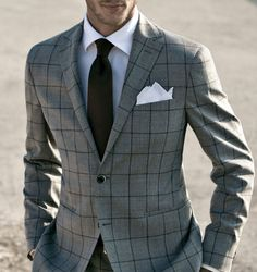 Spice your look with check appeal. #menswear