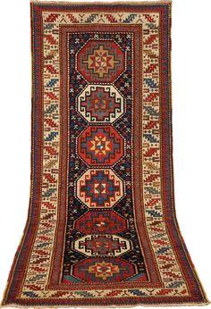 Gendje, Caucasus XIXth century circa cm 275 X 108 Persian Carpet, Persian Rug, Semitic Languages, Tribal Rug, Rugs On Carpet, Turkish Carpets, Oriental Rugs, Antiques, Knot