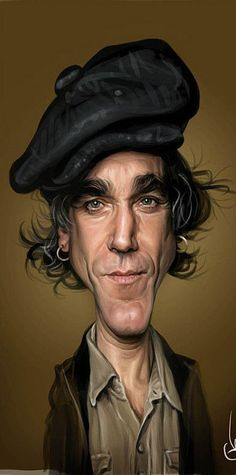 Caricature Artist, Caricature Drawing, Funny Caricatures, Celebrity Caricatures, Realistic Cartoons, Comic Face, Daniel Day, Day Lewis, Funny Character