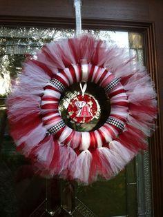 Alabama Crimson Tide Wreath by Jewlsbasement on Etsy, $28.00