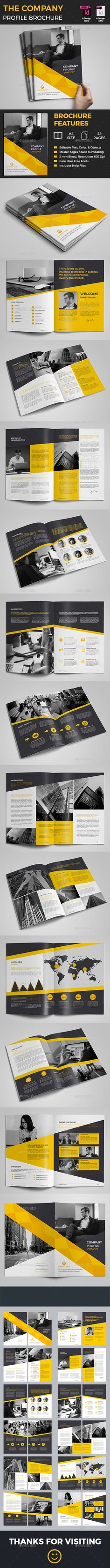 Company Profile Brochure Template InDesign INDD. Download here…
