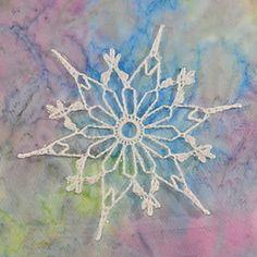 Gothic Daisy Snowflake pattern by Deborah Atkinson