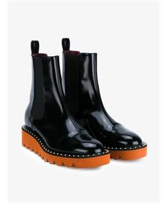 Yes, these black and orange Stella McCartney 'Odette' faux leather boots are…