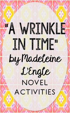 "In this novel unit, you'll find 12 activities for ""A Wrinkle in Time"" by Madeleine L'Engle. This novel unit is is complete as is, or makes a great companion to your current curriculum. Each activity comes in 2 formats to mix and match based on the needs of your classroom - interactive notebook activities and traditional print and go worksheets. This resource is perfect if you're looking for novel activities that are engaging and demonstrate comprehension WITHOUT multiple choice tests!"