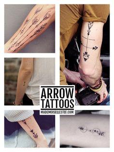 5 ideas of arrow tattoo / 5 idées de tatouages flèches Tattoo Ideas / inspiration arrow ink