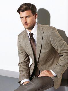 Love earth tones in men's suits.  Carl Gross. Bespoke. Men's Suit