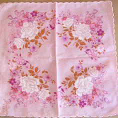 Lavender roses hankie