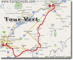 Tour Vert Map - Montreal to Quebec City Quebec City, Montreal, Cycling, Trips, Canada, Bike, Map, Places, Viajes
