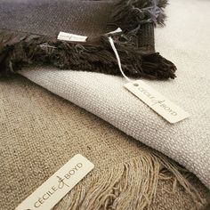 Throws in our Bamboo Boucle available at Cecile & Boyd