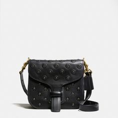 Courier Bag in Glovetanned Leather With Whipstitch Eyelet and Crocodile Detail - Alternate View 1