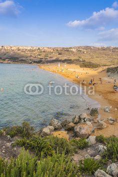 Ramla Bay Gozo Malta Spiaggia dalla sabbia d'oro