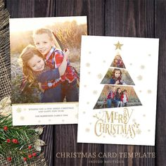 Christmas Card Template - for Photographers and Personal Use.- Christmas Card Template – for Photographers and Personal Use – Holidays Photo card Template – Christmas Tree Photoshop Template - Christmas Photo Card Template, Christmas Templates, Christmas Photo Cards, Xmas Cards, Christmas Photos, Holiday Cards, Christmas Holidays, Christmas Tree, Homemade Christmas Cards