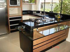 Granito Preto São Gabriel Preço M2- SP Pantry Design, Kitchen Design, Home Decor Kitchen, Kitchen Interior, Home Bar Designs, Cuisines Design, House Plans, Sweet Home, New Homes