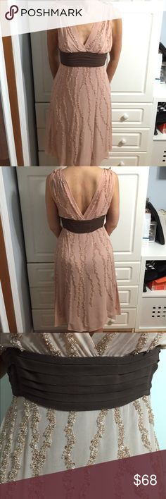 BCBGMaxAzria Light Pink Beaded Dress This dress is beyond gorgeous for any social occasion. The beadwork is super intricate as well. Reasonable offers will be considered.  BCBGMaxAzria Dresses
