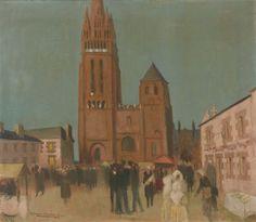 Maurice Denis - FOLGOËT LE SOIR, 1929, Oil on canvas