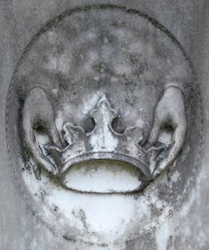 Hands and crown tombstone, Bonaventure Cemetery, Savannah, GA